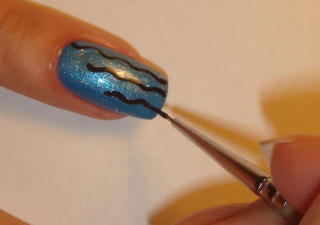 Как сделать рисунок на ногтях кисточкой